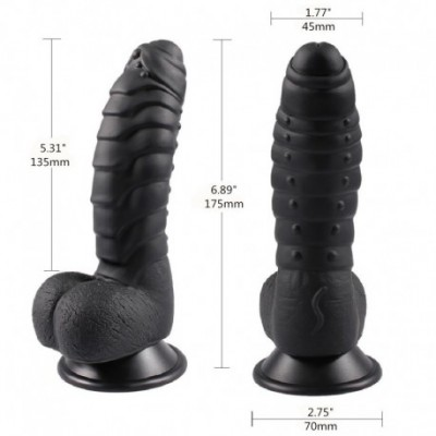 "6.89"" inch Realistic Dildo, Lifelike Silicone Dildo with Suction Cup Ultra-Soft Flexible Adult Sex Toy for Vaginal G-spot and"